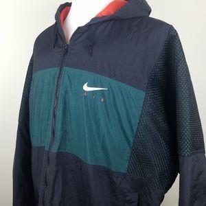 Vintage Nike Air Green Black Coat Full Zip Hoodie